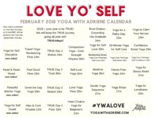 Love Yo' Self – Feb 2018 Yoga Calendar