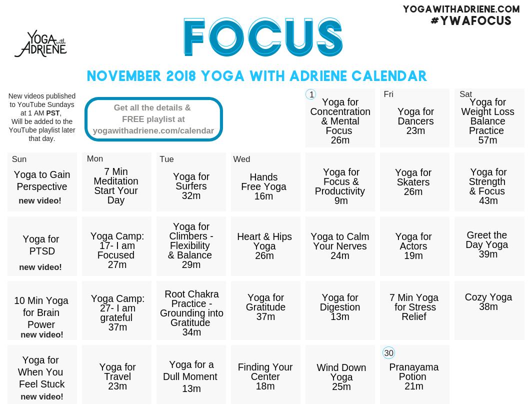 Calendar | Yoga With Adriene