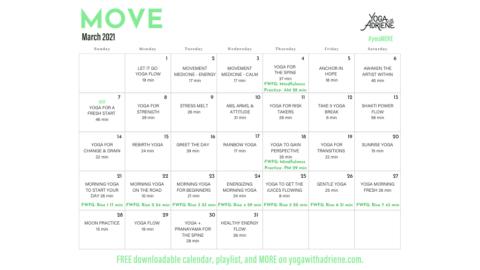 March 2021 Yoga Calendar – MOVE